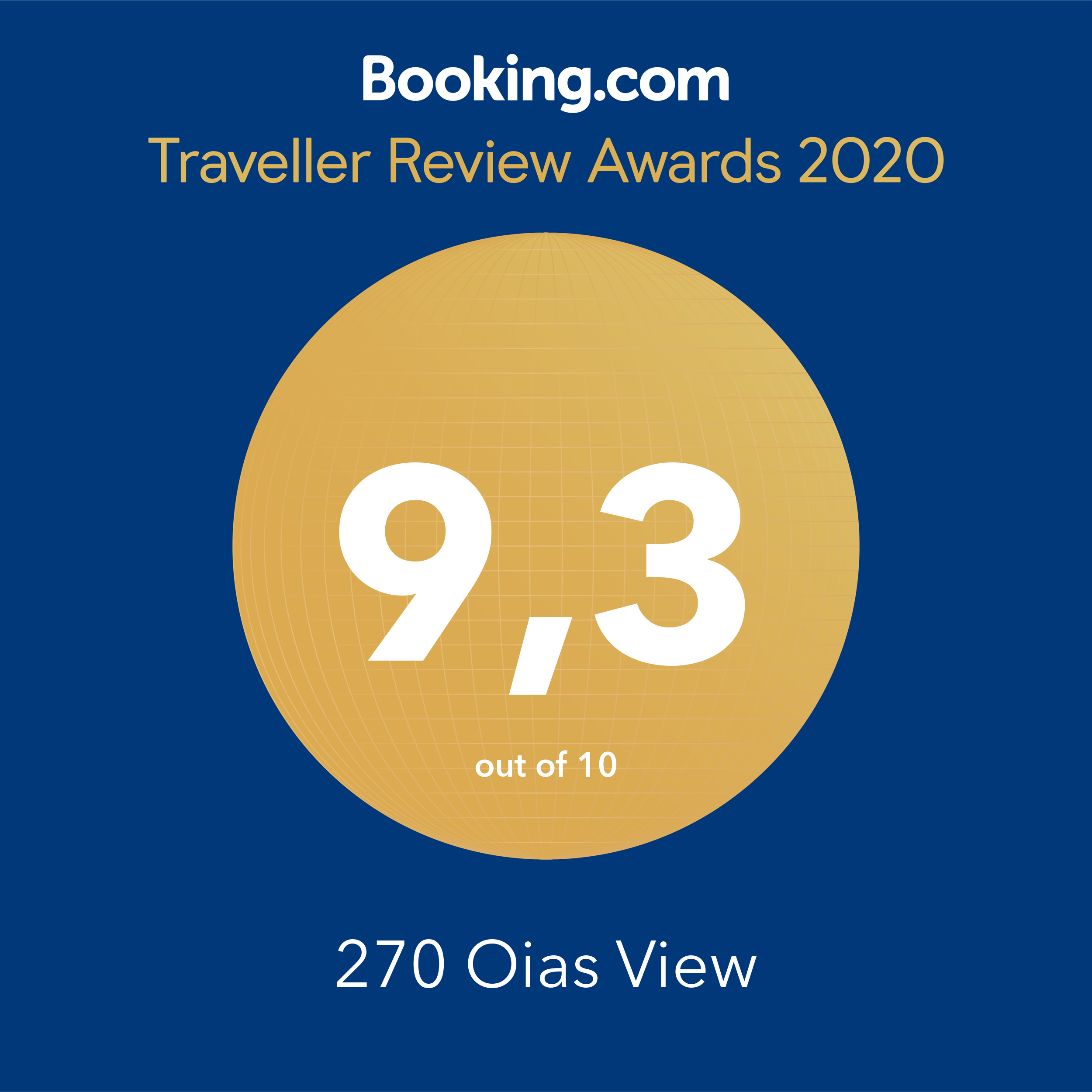 270 Oias View 2020 Booking Reward